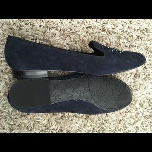 C. Wonder Shoes - NWT C Wonder Navy Zooey eye suede loafer slippers